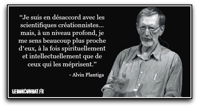 Alvin Plantiga sur la relation entre evolutionnistes et créatonnistes.