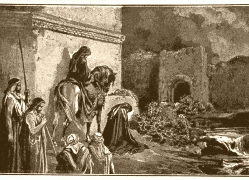 Néhémie faisant l'inspection de la muraille de Jérusalem