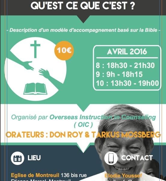 Formation gratuite à la relation d'aide biblique !  www.leboncombat.fr