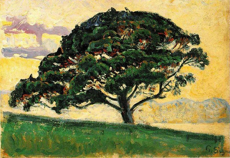 Et si Eden était en fait... un temple ?  www.leboncombat.fr Image : L'arbre, de Paul Signac